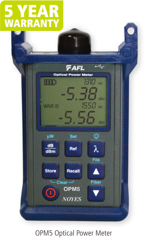 OPM5 Optical Power Meter with Data Storage  |代理產品|光纖應用|AFL