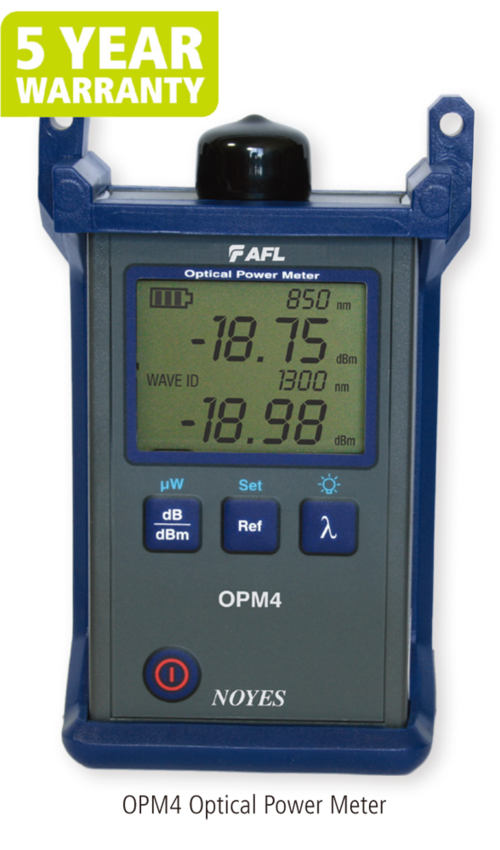 OPM4 Optical Power Meter with Wave ID and Set Reference示意圖